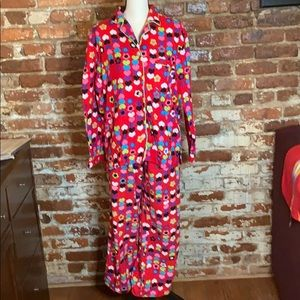 Victoria's Secret heart printed Pajama Set USS red
